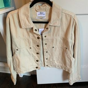 NWT: Cream Cropped Urban Outfitters Jacket